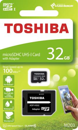 TOSHIBA MicroSDHC 32GB CL10 UHS1 + adap.