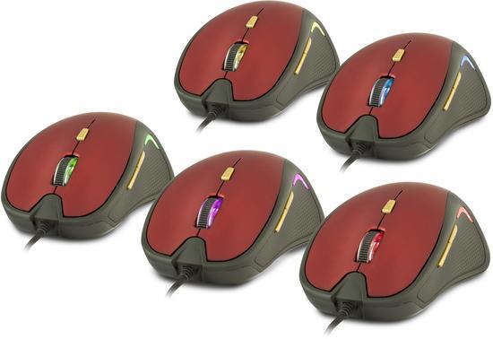 YENKEE YMS 1010RD Myš USB Dakar Red