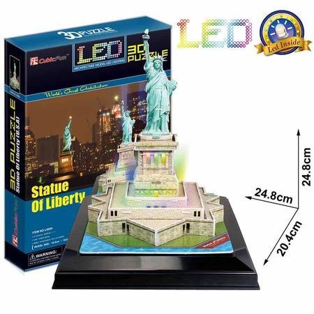 CUBICFUN Svítící 3D puzzle Socha Svobody 37 dílků