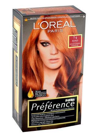 L`Oréal Paris Préférence Féria Hair Colour 1ks W 74 Mango