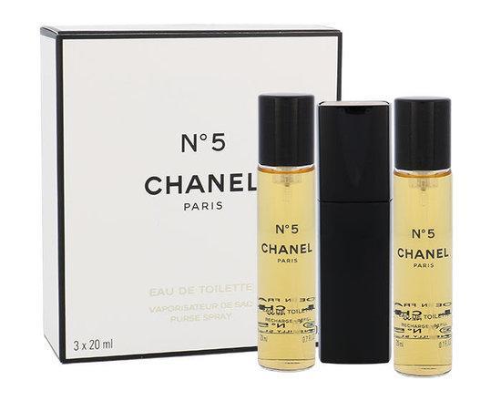Chanel N°5 Eau De Toilette toaletní voda 3x20ml Pro ženy plnitelný flakón