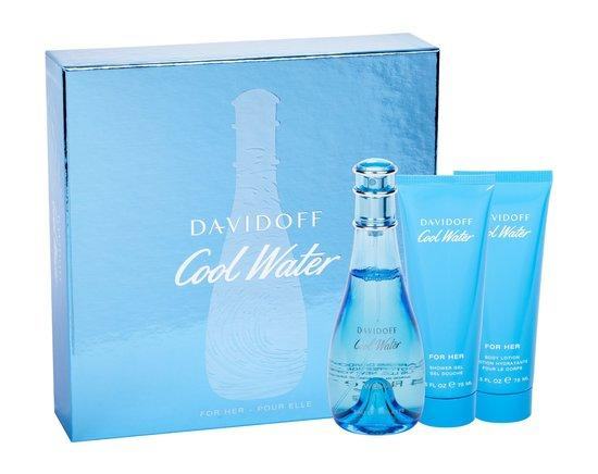 Davidoff Cool Water for Women EDT 100 ml + SG 75 ml + BL 75 ml