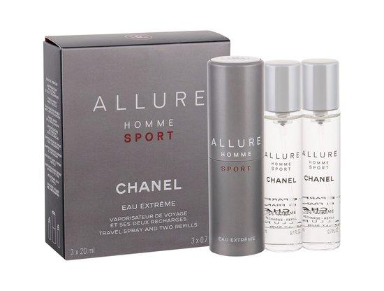 Toaletní voda Chanel - Allure Homme Sport Eau Extreme 3x20 ml Twist and Spray