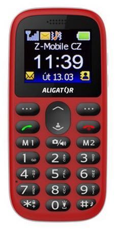 Mobilní telefon Aligator A510 Senior - červený