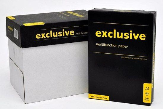 Kancelářský papír Exclusive A KVALITA - A4, 80g, bílý, 500 listů - CERTIFIKÁT BĚLOSTI