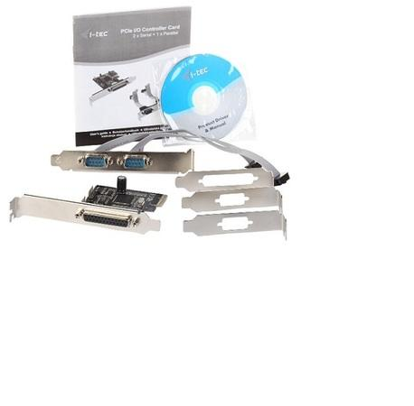 i-Tec PCIe I/O Controler card (2x COM, 1x LPT), Low Profile , PCE2S1P