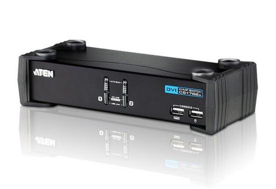 ATEN 2-portový přepínač KVM ™ DVI / Audio USB CS-1762A USB HUB, CS1762A-AT-G