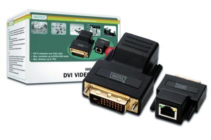 Digitus DS-54101 DVI extender po Cat5 kabelu až na 70m, DS-54101
