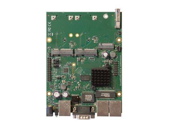 MikroTik RouterBOARD RBM33G, Dual Core 880MHz CPU, 256MB RAM, 3x Gbit LAN, 2x miniPCI-e, ROS L4, RBM