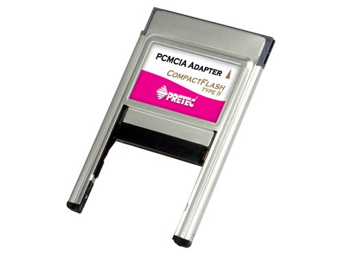 Pretec CompactFlash Type I/II PCMCIA Adapter, PCACFA+