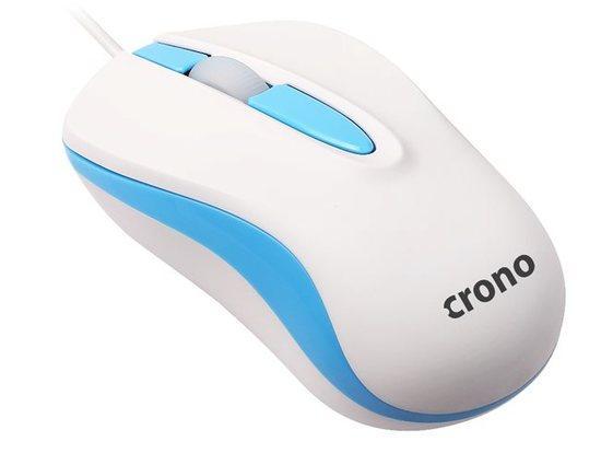 Crono CM642 - optická myš, USB, modrá + bílá, CM642