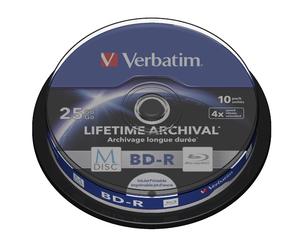Disk Verbatim BD-R M-Disc 25GB, 4x, printable, 10-cake, 43825