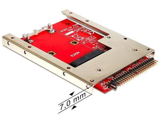 "Delock adaptér IDE 44 pin na mSATA s 2,5"" rámečkem (7mm)"