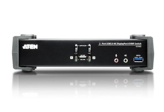 ATEN KVM switch CS-1922, 2-Port USB 3.0 4K DisplayPort (4K,USB 3.1 Gen 1), CS1922-AT-G