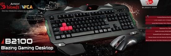 A4tech Bloody B2100 herní set klávesnice s myši, podsvícení USB, B2100