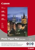 Fotografický papír, do inkoustové tiskárny, pololesklý, A4, 260g, CANON, bal. 20 ks