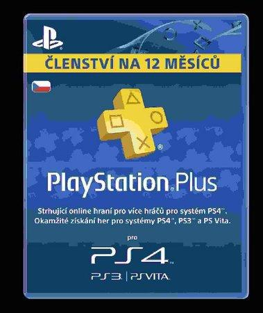 SONY PlayStation Plus Card 365 Day/CZE, PS719807346
