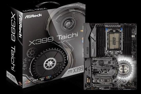 ASROCK MB X399 TAICHI (TR4, amd, 8xDDR4 3600MHz, PCIE, 8xSATA3R, Ultra M.2, M.2, U.2, USB3.1, 7.1, 2