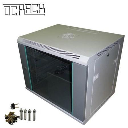 19` OCRACK OCC-12U-45S rozvaděč nástěnný 12U/450mm celoskleněné dveře, OCC-12U-45S