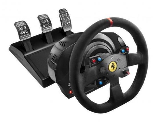 Thrustmaster Sada volantu a pedálů T300 Ferrari 599XX EVO Alcantara pro PS3, PS4,PS4 PRO,PC