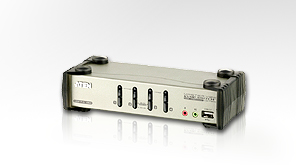 ATEN KVM switch CS-1734BC,USB Hub, OSD, 4PC audio+USB-PS/2, CS1734B-A7-G
