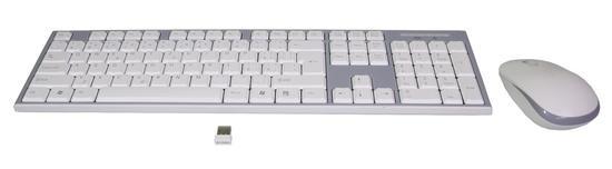 EVOLVEO WK-180, set bezdr. klávesnice a myši, USB, 2,4GHz, CZ/US, bílo-šedý, WK-180