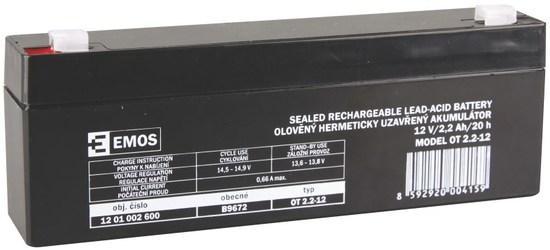AKUMULÁTOR SLA 12V/2,2Ah FA-4,7mm