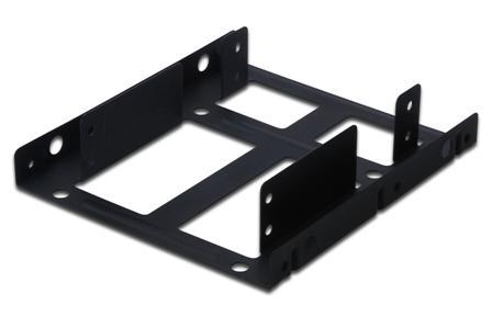 """Digitus kovový úchyt pro montáž dvou 2,5"""" disku do 3,5"""" pozice"""