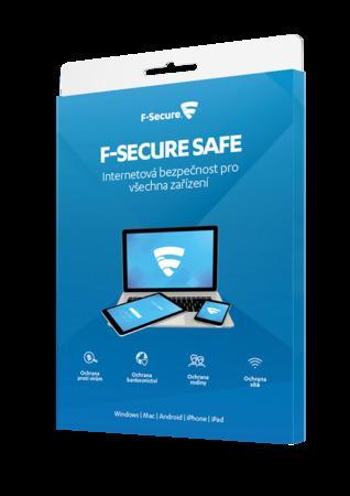 F-Secure SAFE pro 3 zařízení na 1 rok - elektronicky, FCFXBR1N003E1