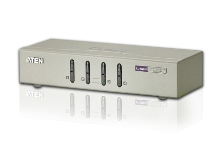 ATEN KVM switch CS-74U USB 4PC audio , včetně kabelů 1.2m, CS74U-A7