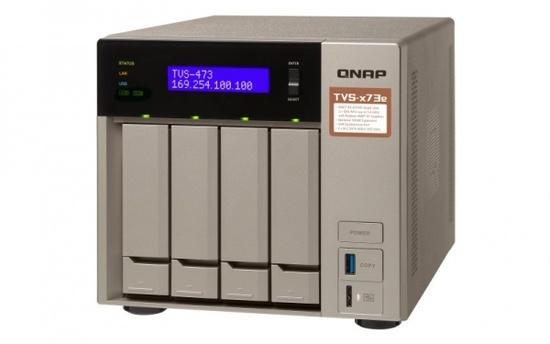 "QNAP TVS-473e-8G Turbo NAS server, AMD RX-421BD QC 2.1 GHz/4GB/RAID 0,1,5,6,10/4xGL/4x 2.5/3.5"" SATA II/III HDD/SSD"