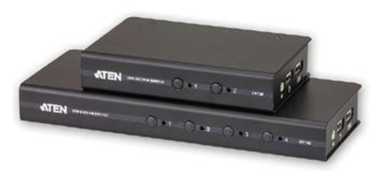 ATEN CS-72D 2-port DVI KVM USB, audio 2.1, včetně kabelů, CS72D-AT