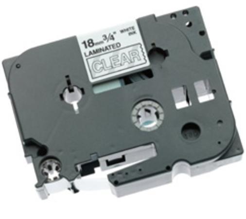 Páska Brother TZ-145 (Bílý tisk/průsvitný podklad) - Originál, TZE145