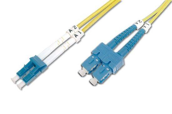 Digitus Fiber Optic Patch Cord SC (APC) to LC (PC), Singlemode 09/125 µ, Duplex Length 5 m