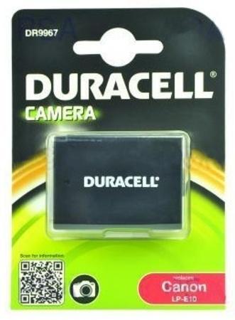 DURACELL Baterie - DR9967 pro Canon LP-E10, černá/bílá, 1020 mAh, 7.4 V