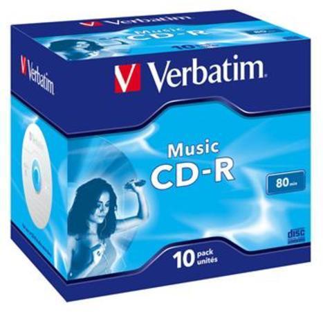Verbatim CD-R 700MB 16x, jewel, 10ks (43365)