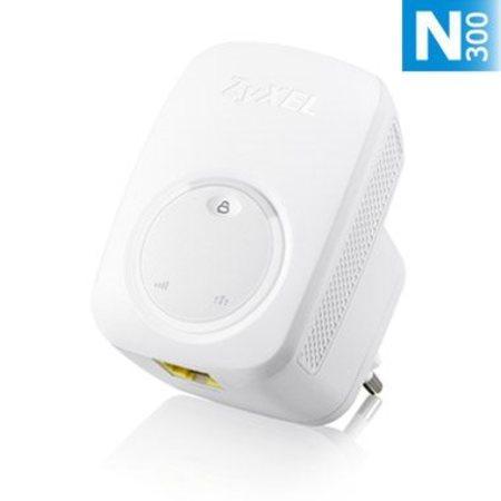 Zyxel WRE2206, Wireless N300 (802.11n 300Mbps) Range Extender/Repeater, Direcplug design, 1x 10/100Mbps LAN port, WPS bu, WRE2206-EU0101F