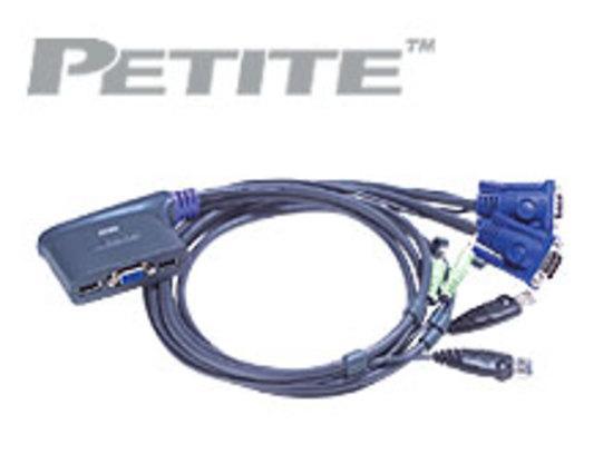ATEN KVM switch CS-62U USB 2PC mini , audio support, 1,8m, CS62U-A7