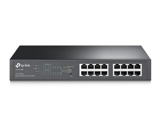 TP-Link TL-SG1016PE PoE switch, 16x GLAN (8x PoE), 802.3af/at, 110W budget, TL-SG1016PE