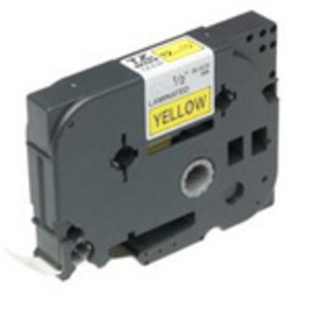 Brother - TZ-661, žlutá / černá - (36mm, lamin.), TZE661