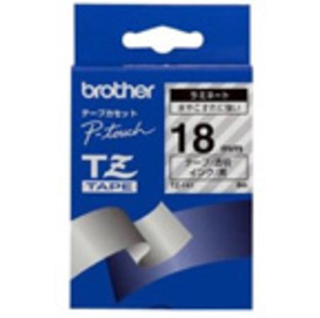 Páska do štítkovače Brother TZE141, transp./černá, 18 mm, TZE141