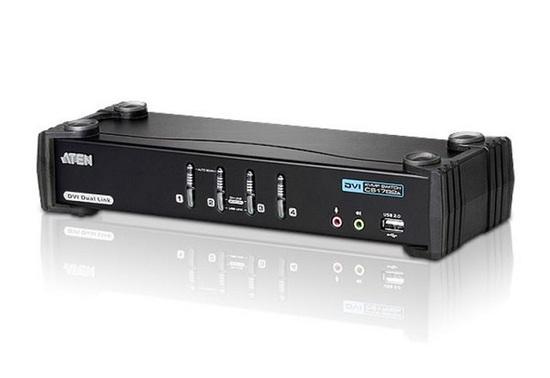 ATEN 4-portový přepínač KVM ™ DVI Dual Link/ se zvukem CS1784A, CS1784A-AT-G