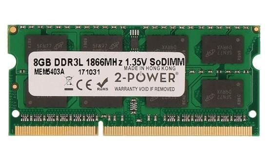 2-Power 8GB PC3L-14900S 1866MHz DDR3 CL13 1.35V SoDIMM 2Rx8 1.35V (DOŽIVOTNÍ ZÁRUKA), MEM5403A