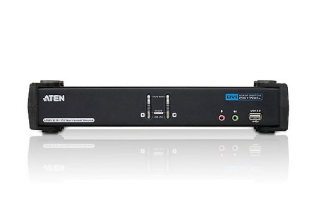ATEN KVM switch CS-1782A USB Hub 2PC DVI Dual Link KVMP™, audio, CS1782A-AT-G