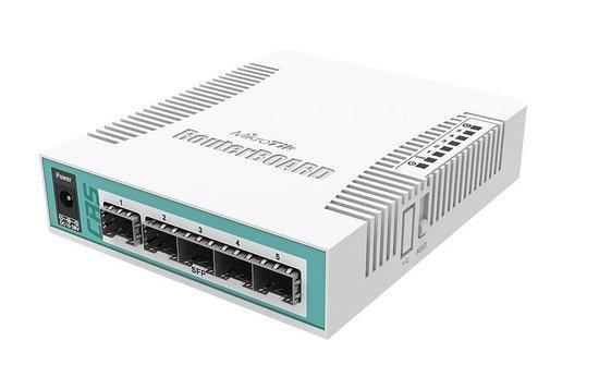 MikroTik Cloud Router Switch CRS106-1C-5S, 5x SFP + 1x Combo (SFP/ETH), CRS106-1C-5S