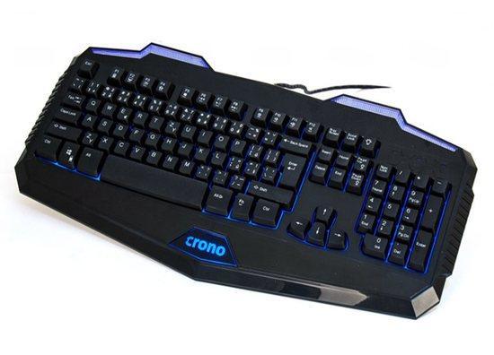 Crono CK2110 - herní klávesnice se 3 barvami podsvětlení , USB, CZ / SK, černá, CK2110
