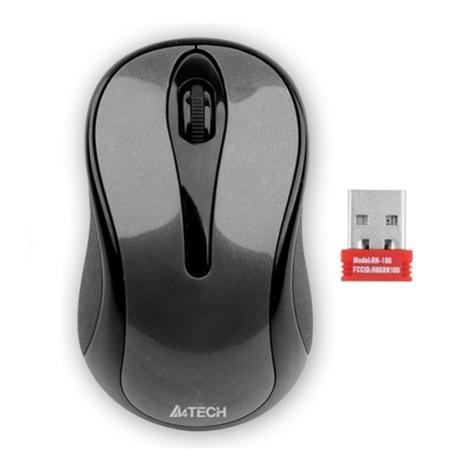 A4tech G3-280N, V-Track, bezdrátová optická myš, 2.4GHz, 10m dosah, šedo-černá
