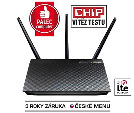 ASUS RT-AC66U B1, Dvoupásmový Wireless-AC1750 Gigabit Router, 90IG0300-BM3100
