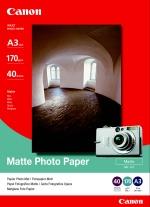 Fotografický papír, do inkoustové tiskárny, matný, A3, 170g, CANON, bal. 40 ks