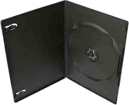 COVER IT Krabička na 1 DVD 7mm slim černý - karton 100ks, NN120